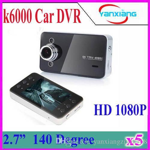 5PCS 2.7'' LCD K6000 Car Camera Car DVR Full HD 1080P Vehicle Camera LED Night Vision Video Recorder Car camera recorder YX-DV-03