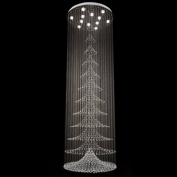 Spiral crystal chandelier light fixture long crystal stair lamp spiral crystal chandelier light fixture long crystal stair lamp flush mounted stair light fitting for staircase aloadofball Choice Image