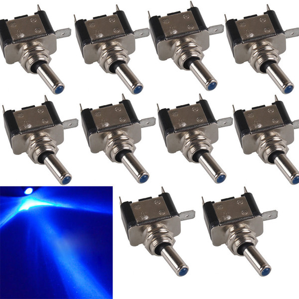 best selling 10* LED Light Toggle Switch Rocker 12V 20A ON OFF SPST Car Truck Boat B00437