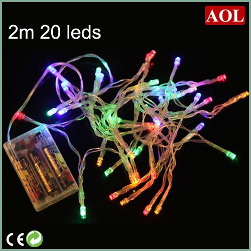 3XAA Battery 2m 20 LED string MINI FAIRY LIGHTS BATTERY power OPERATED White/Warm white/Blue/Red/Yellow/Green/Pink/Purply/multi-color
