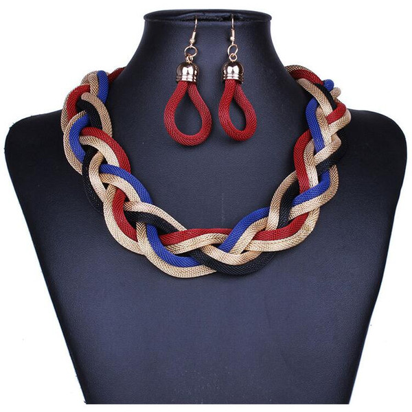 best selling Bohemian Jewelry Sets Hot Sale Earrings and Necklaces Set for Women Girl Party Gift Fashion Jewelry Wholesale Free Shipping 0415WH