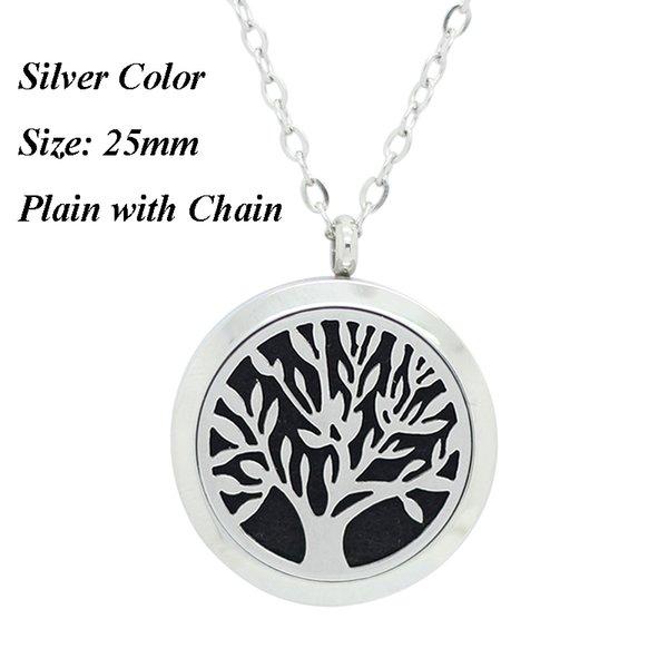 25мм серебро одноцветный