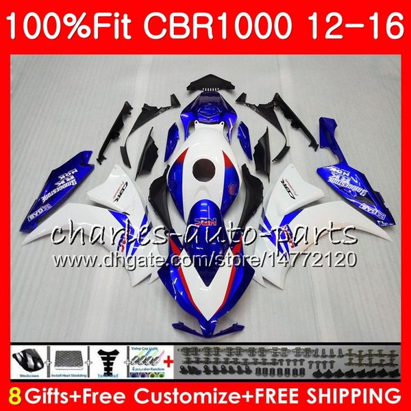 Injection Body For HONDA CBR 1000 RR Factory blue CBR1000RR 12 13 14 15 16 88NO6 CBR 1000RR CBR1000 RR 2012 2013 2014 2015 2016 Fairing kit