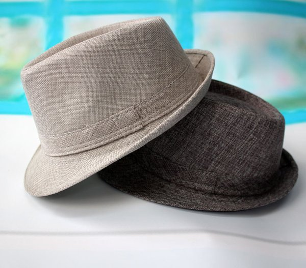 Весна лето осень и зима белье шляпа цвет в пожилых мужчин джаз играет пляж sunbonnet старый черный серый коричневый хаки шляпа
