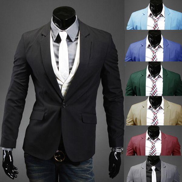 Multi-color Business Formal Men Blazers Solid British Brief Style Shiny Formal Suit For Men Single Button Lapel Neck Blazers Clothes J160439