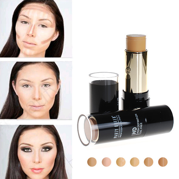 Party Queen HD Oil-Free Stick Foundation for Oily Skin Natural Concealer Oil-control Face Makeup Professional Make up Base Product 0.45 OZ