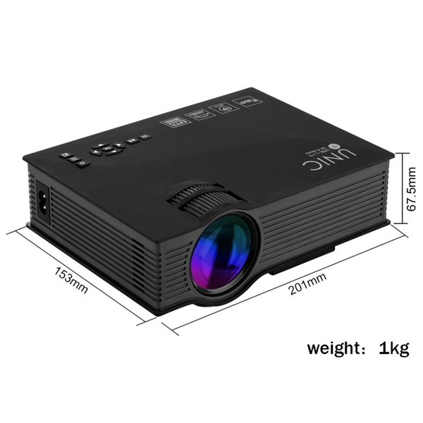 2016 New 1200 Lumens UNIC UC46 Portable Projectors HD LED Mini Pocket WIFI Wireless Miracast Airplay Dlna Mobile Handheld Home Projector