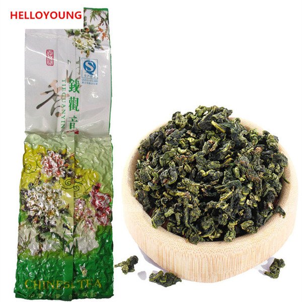 top popular Promotion 250g Chinese Organic Oolong Tea Fresh Natural Anxi Tieguanyin Black Green Tea Health Care New Spring Tea Green Food 2019