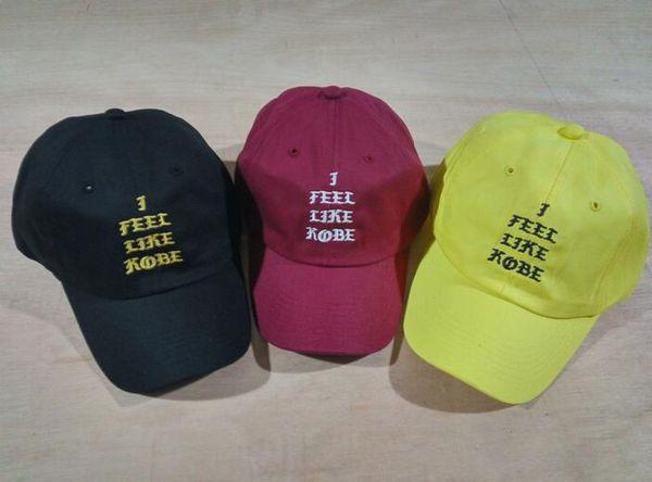 2016 Red wine i feel like kobe Casquette Brand Men Women Peaked Caps Hunting Curved bill Snapback Hats Golf caps Sun Hat PP