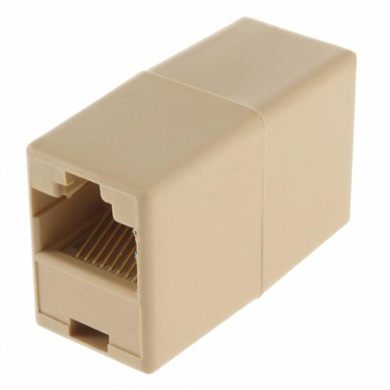 top popular 8P8C RJ45 Female to RJ45 Female for CAT5 Network Cable Connector Adapter Extender Plug Coupler Joiner Couplers 2021