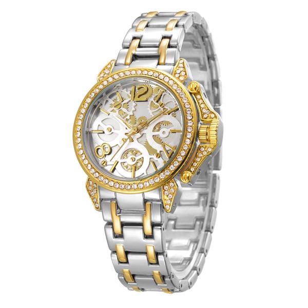 BELBI Marca de relojes lujo para mujeres Hebilla la joyería Relojes cuarzo de la aleación Encanto de la muñeca del