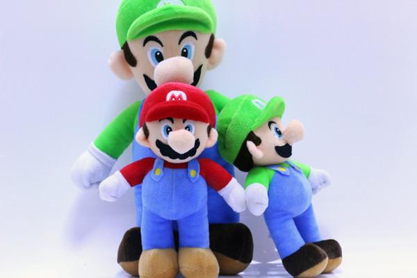 Super Mario Bros Plush Toys High quanitity 25cm Mario Luigi Plush Stuffed Dolls Gift For Children Free Shipping