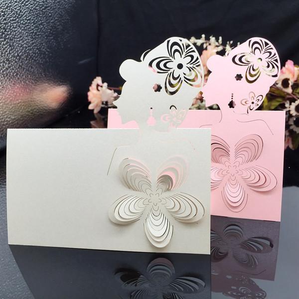Großhandel 200 Stücke Laser Cut Gril Papier Tischkarte Nummer Visitenkarte Für Party Hochzeit Tischkarte Schmücken Von Goodquality610 31 15 Auf