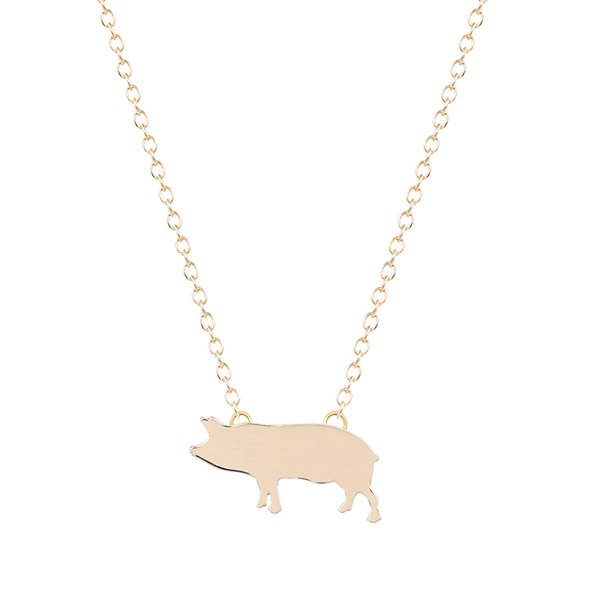 10pcs/lot Fashion Bridesmaid Silver Gold Pig Pendant Necklace for Women Wedding Necklace Friendship Eternity Free Shipping
