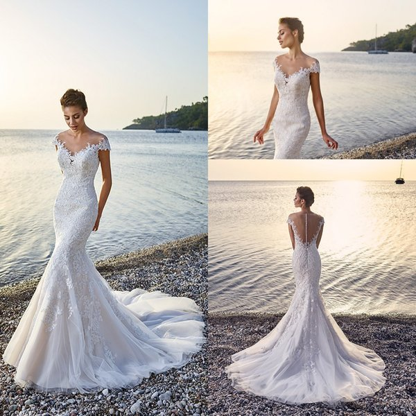 Gorgeous Wedding Dresses 2018 Eddy K Corsica Mermaid Appliques Lace ...