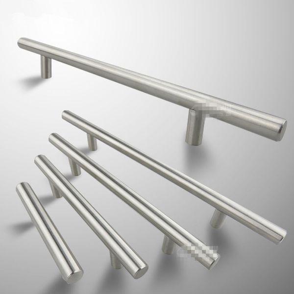 1pc Modern Satinless Steel T bar Kitchen Cabinet Door Handles Drawer Pulls/Knobs Lot Furniture Accessories