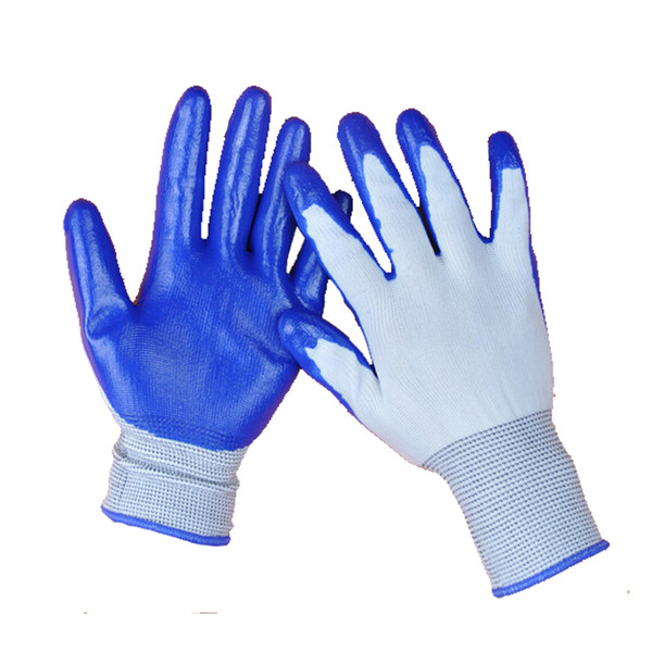 best selling Free Shipping Nitrile Glove Palm Coated Blue Nitrile Working Gloves Safety Glove Wear-Resistant Safety Working Gloves Nitrial Glove