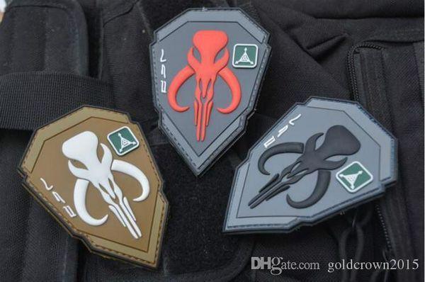 2.75 * 3.9 polegada Atacado PVC Patch com fita mágica TAD Bounty Hunter Patch bounty hunter personagem braçadeira GPS-019 acessórios de vestuário