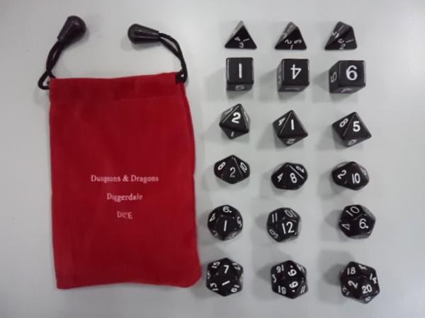 Multi Sided Dice Set 3pcs * D4 D6 D8 D10 D12 D20 Dungeons & Dragons Daggerdale Dice Good Price High Quality 18pcs/set #D6