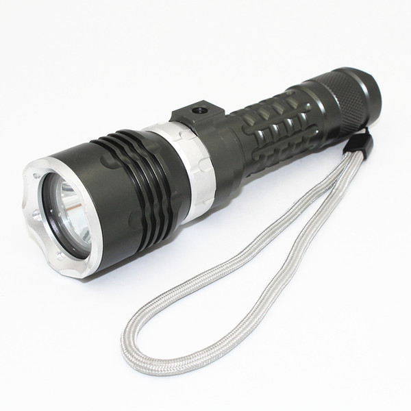 KC Fire LED CREE XM-L2 LED Diving Flashlight 1200LM 4-Modes Light Magnetic Rotate Switch Portable Torch Power
