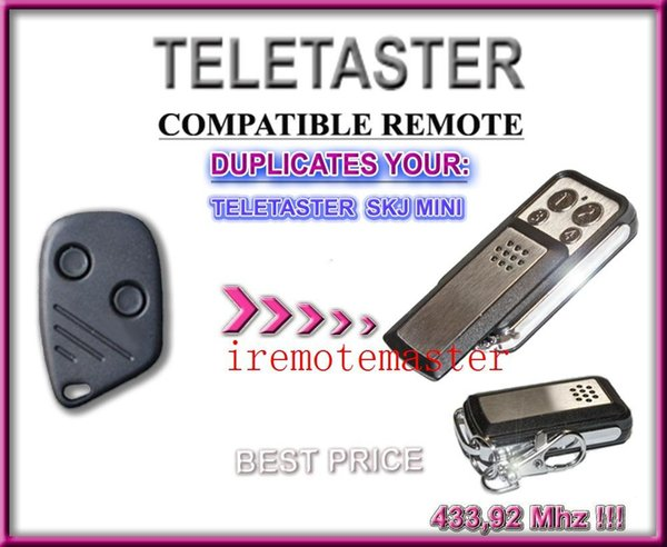 New arriivals! Replacement remote compatible with Teletaster SKJ MINI remote control/openner/trainsmitter with 433.92MHZ
