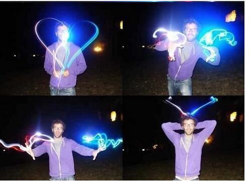 LED-Finger-Taschenlampe Taschenlampe Lampe LED-Ring-Licht-Glühen Laser-Finger-Beams Finger-LED blinkt Ring Partydekoration Blitzlicht-Kind-Spielwaren-Geschenk