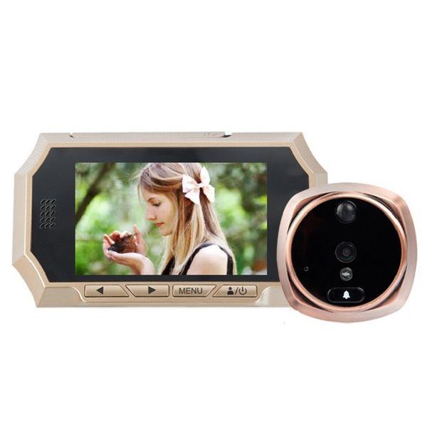 Video-Eye peephole 4.3inch LCD IR Night vision PIR Motion Detection video-eye door camera Photos Taking Video Recording Max 32GB