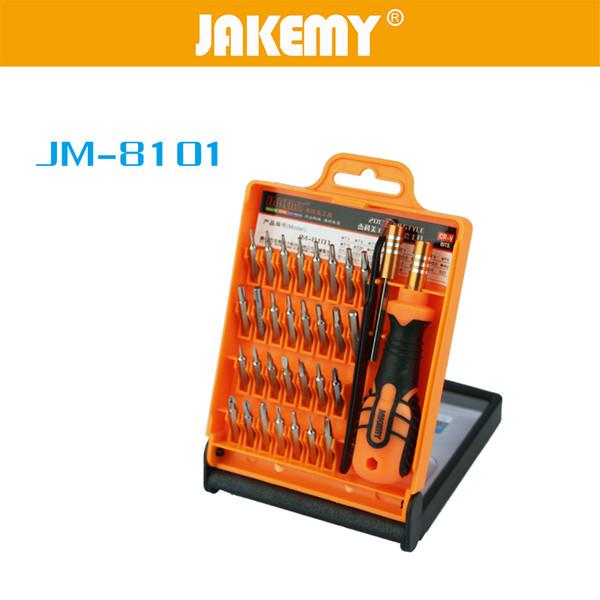 DHL 20Sets JAKEMY JM-8101 33 In 1 Micro Pocket Precision Screwdriver Set Disassembled Tool Phone Heads Tool Tournevis Repair Box