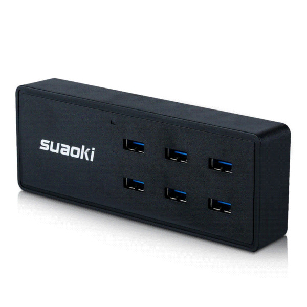 Original Suaoki AU Charger 50W10A 6-Port USB Smart Charging Station With TIR-C Technology Black Cheap charger laptop