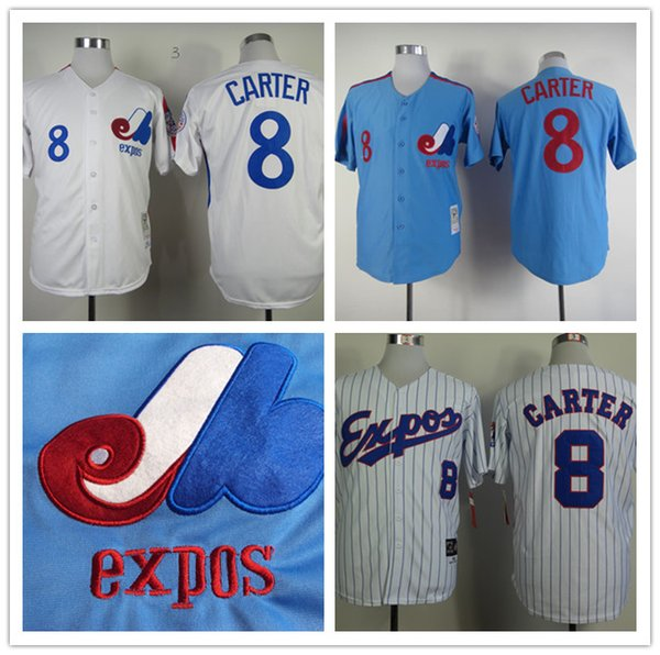mitchell and ness expos 14 pete rose white throwback stitched mlb jersey gary carter montreal expos