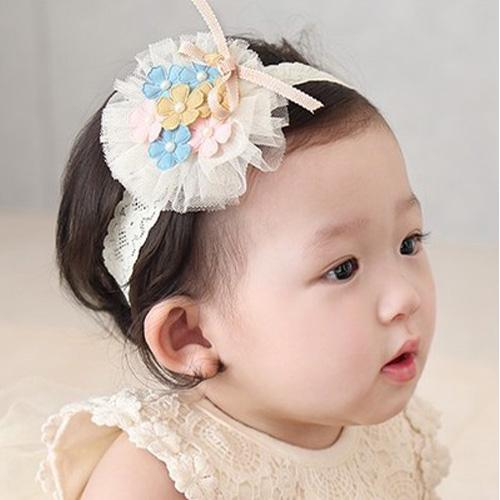 Wholesale 20pcs Fashion Cute Floral Headbands Solid Flower Lace Soft Hairbands Princess Headware Hair Accessories