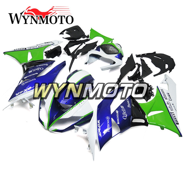 High Quality Carenes for Kawasaki ZX-6R 2009 2010 2011 2012 ABS Plastic Injection Body Frames Motorcycle Ninja636 Covers Green Blue Cowlings