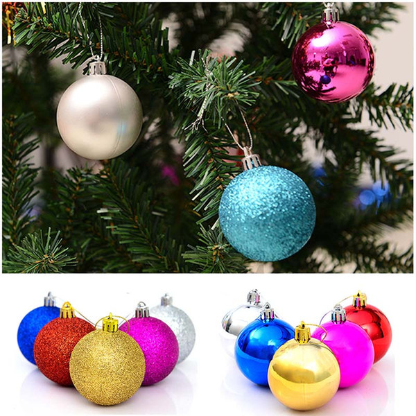 Hot Selling 24pcs/ lot Christmas Tree Decor Ball Bauble Hanging Xmas Party Ornament decorations for Home Decoration