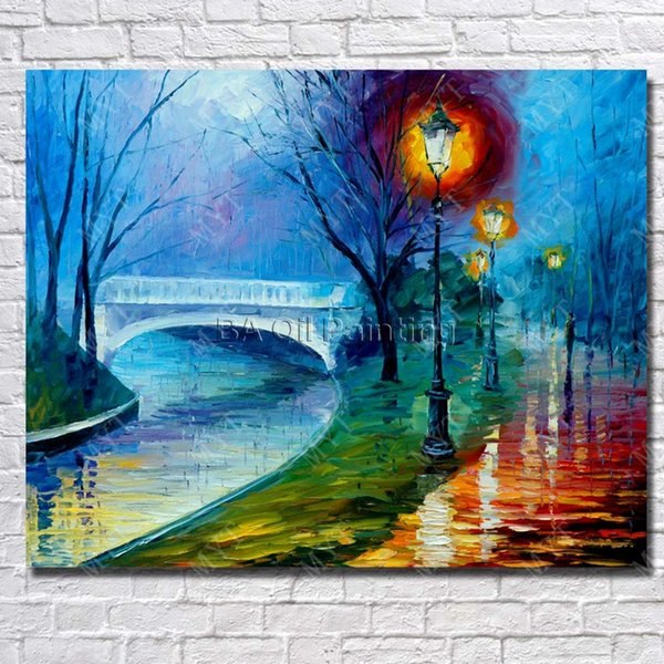 New Design Lamdscape Wall Pictures Modern Home Decoration Hand Painted Canvas Pictures Oil Painting Knife Painting Art No Framed