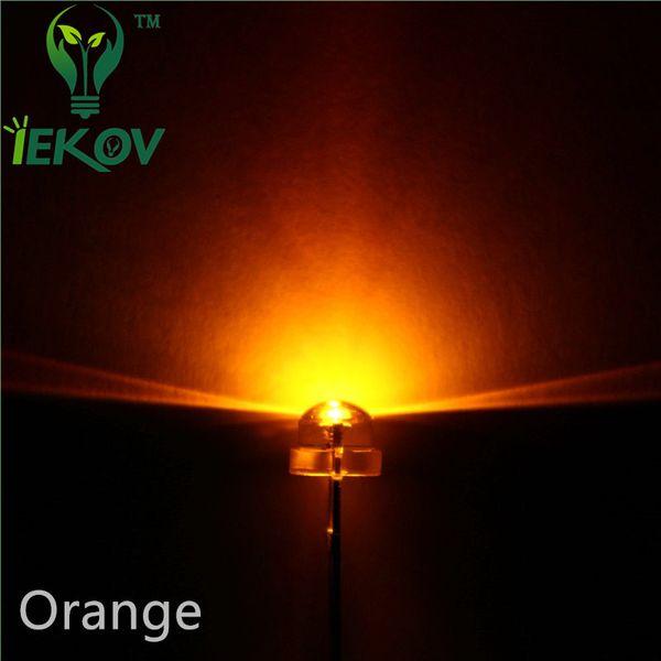 High Quality 10000pcs/lot 5mm Straw Hat Orange/Amber Led Wide Angle Light Bulb Led Lamp Urtal Bright 5MM Emitting Diodes Wholesale