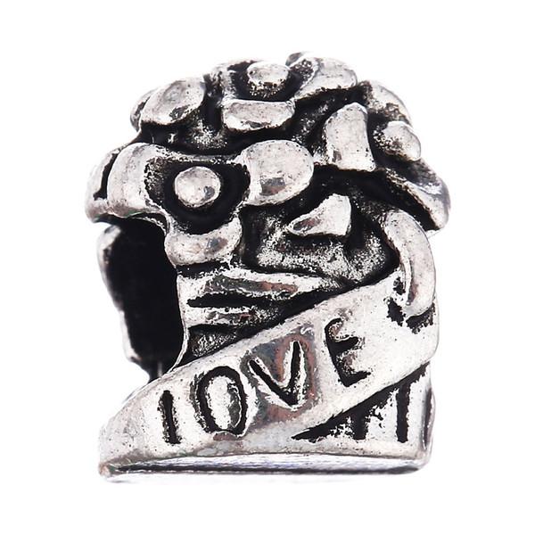 Charms Eagle Beads Fashion Jewelry Loose Ball Bead misura per braccialetti europei fai da te donne collane regali # 9