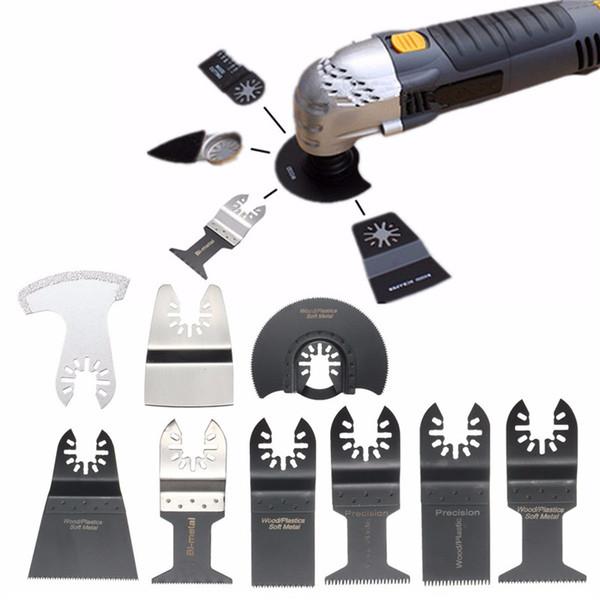 top popular 12Pcs Set Mix Oscillating Tool Saw Blades Accessories For Metal Wood Softer Plastics Drywall Fiberglass Stone Ceramic Tile etc 2021