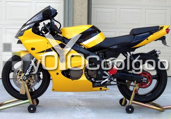 Injection Fairing For Kawasaki Zx636 Zx6r Zx 636 Zx 6r 2000 2001 2002 Abs Yellow F0623c Motorcycle Fairings With Stereo Motorcycle Fiberglass Fairings