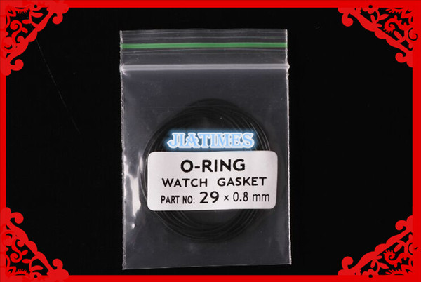 Wholesale- Free Shipping High Quality 10pcs 0.8mm Thick Watch Gasket O-Ring Select Size 26-38mm for Watch Repair Watch Back Case