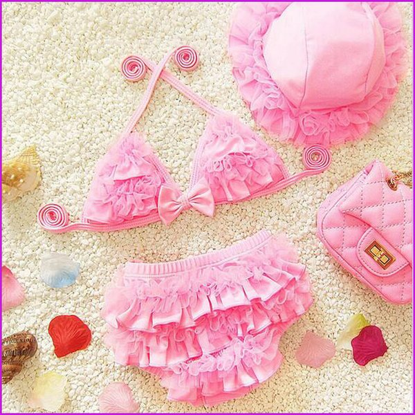 2017 2016 Sweet Dream Girls Princess Swimwear Sex Lace Tutu Veil Beach  Clothing With Hat Set Childs Bikini Kids Children Swimsuits From Aanyfeige,