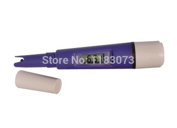0.00-14 .00 Type de stylo pH étanche pH mètre Mesure de l'eau pH testeur Résolution: 0.01 PH-037 Violet 10pcs / lot Livraison gratuite
