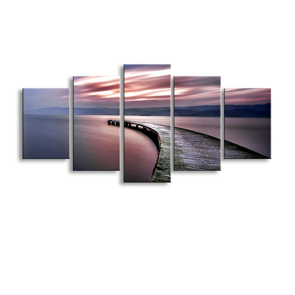 5 pieces high-definition print abstract canvas oil painting poster and wall art living room picture PL5-201