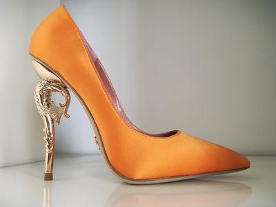 Ralph Russo Haute Couture Collection Shoes Orange Dress Heels