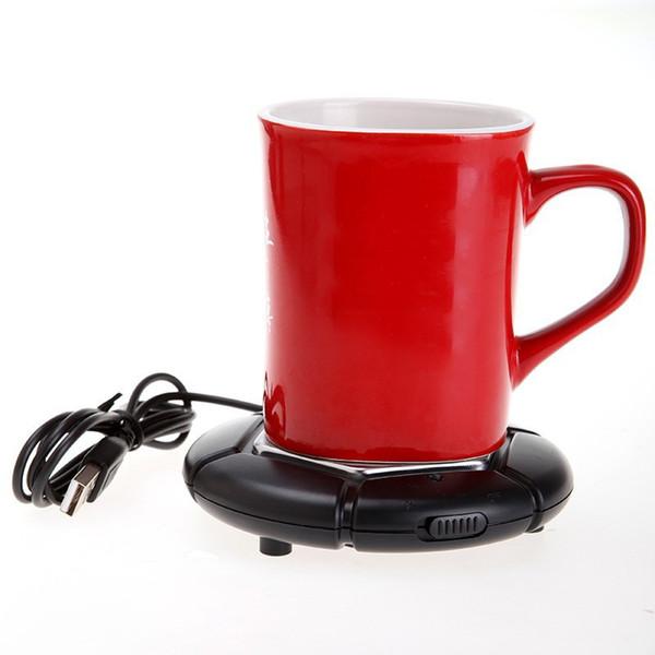 Portable USB Electronics Gadgets Novelty Item Powered Cup Mug Warmer Coffee Tea Drink USB Heater Tray Pad Drop Shipping