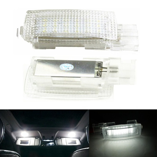 Error Free LED Interior Vanity Mirror Visor Light Car Lamp For VW EOS GOLF5 6 GOLF PLUS JETTA PASSAT POLO SCIROCCO SEAT TIGUAN