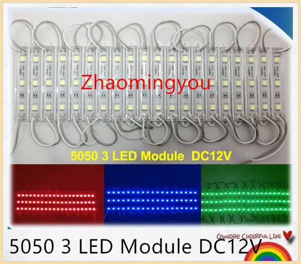 YON Free shipping High power 5050 3 LED Module DC12V Waterproof advertisement design led modules lighting, 20PCS/Lot