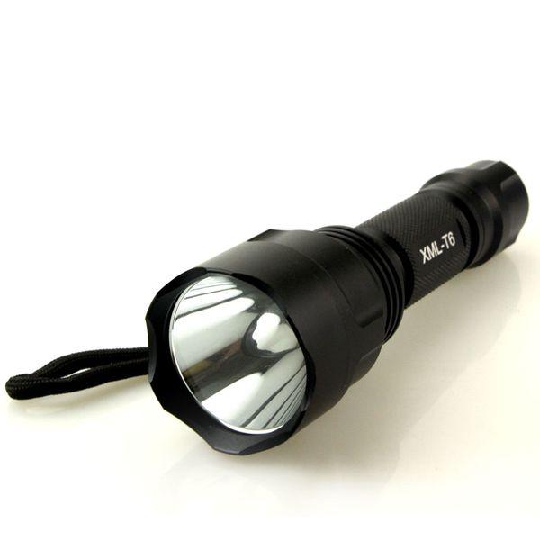 led flashlight 5000 lumens cree xml t6 torch lamp flashlights powered by 1 piece 18650 battery