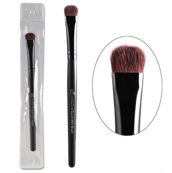 E.l.f. Brand Professional Eyeshadow Brushes Elf Studio Single Black Eye Shadow Makeup Brush Cosmetic Tool Kits with Horse Hair Wood Handle