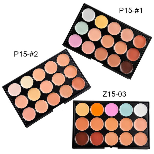 Professional 15 Colors Concealer Foundation Contour Face Cream Makeup Palette Pro Tool for Salon Party Wedding Daily 0605056 free shipping
