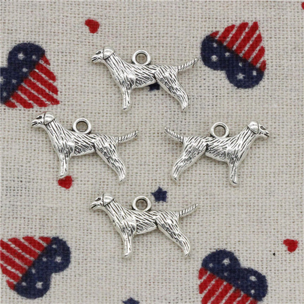 Wholesalecs- 200pcs Charms double sided dog 23*15mm Pendant,Vintage Tibetan Silver,For DIY Necklace&Bracelets Jewelry Accessories